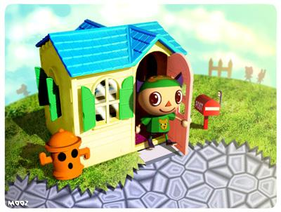 Animal crossing wild world for Extension maison animal crossing wild world